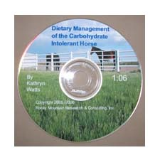 Dietary Management of the Carbohydrate Intolerant Horse